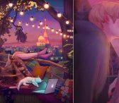 Љубовта е во малите моменти… Убавината на вљубувањето низ илустрации