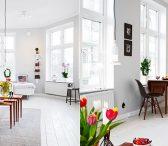 Симпатичен студенстки апартман уреден во скандинавски стил