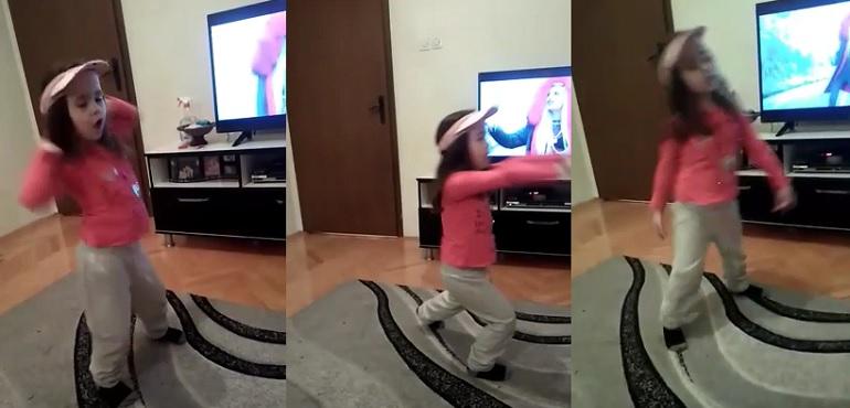 Преслатко: Погледнете како танцува ова девојче
